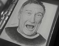 R.I.P Robin Williams Portrait Drawing