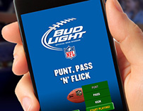 PUNT, PASS 'N FLICK Mobile Game