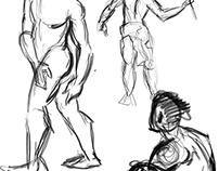 Gesture Drawings - Digital