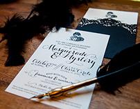 Poe Masquerade & Mystery Invitation