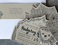 Hedgehog Holdout Autism Event Letterpress Invite