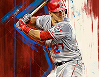 Mike Trout - An Illustrated Print