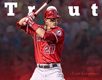 Mike Trout Graphic Design