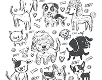 Favorite Dogs Pattern