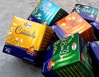 projeto gráfico embalagens chá, fasa