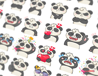 Panda Stickers Set for Ask.fm
