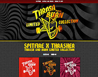 Spitfire x Thrasher - Thrash and Burn minisite