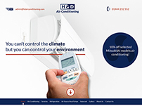 Air Conditioning Services - Web Design
