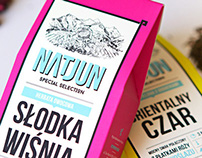 NATJUN TEA • packaging