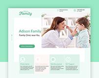 Website design for Adison Family clinic