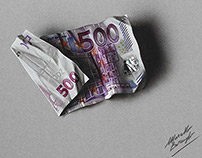 500 euro note - drawing