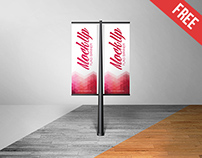 Free Flag Banner Mock-up in PSD on Behance