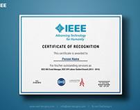 IEEE CIIT LHR - Certificates