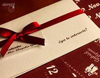 Tarjetas de Invitación - Matrimonio