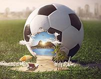 Lan - Brasil, soccer ball