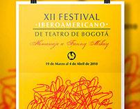 Propuesta afiche XII Festival Iberoamericano de Teatro