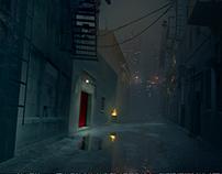 Alleyway Concept Art