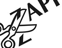 Zapf Dingbat Black & White Poster