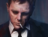 Digital Painting – Daniel Craig