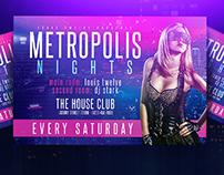 Metropolis Nights | Flyer + FB Cover