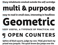 Obliqua, a multi-purpose, humanist sans-serif typeface