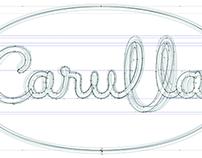 Carulla wordmark, digital refinement