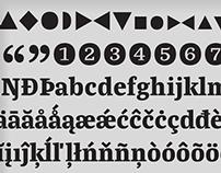 La República, a newspaper typeface