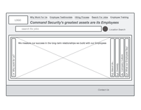 Wireframes - Command Security