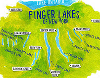 Map of New York's Finger Lakes