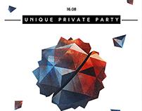 UNIQUE PRIVATE PARTY - FLYER ART