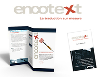 Encotext logotype, web and e-letter design