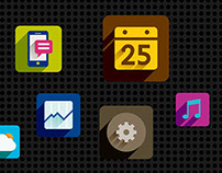 Long Shadow Flat Design Icons