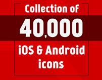 40,000+ Premium Quality Icons