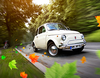 Autumn mood with FIAT 500 / automotive photography
