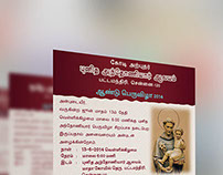 St. Anthony's Church, Chennai - Feast Flyer