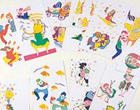 "Illustration for the book ""ecouter le temps qui chante"""