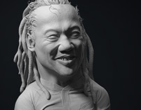 Tana Umaga - Clay version