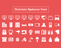 Electronic Appliances Icons Freebie