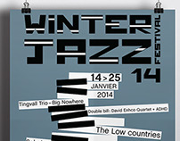 Winter jazz festival poster