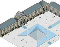 Louvre museum illustration