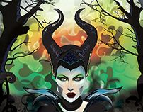 Maleficent Vector Poster
