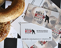R.E.A.L. Bagel business card design