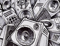 GHETTO BLASTER SKETCHBOOK