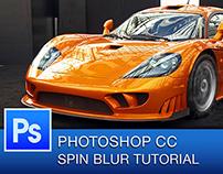 Photoshop CC Spin Blur Tutorial