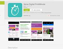 Xerox Digital PrintMinute App