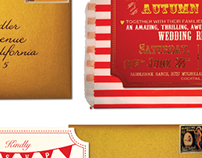 Circus/Carnival Reception Invitations