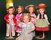Oil Painting -- Shirley Temple Dolls.