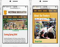 Desktop and Phone Web Site for Westbrae Biergarten