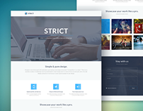 Strict Portfolio Template [Freebie]