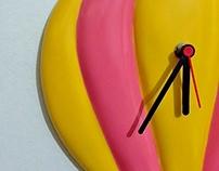 Relógio balão em fibra de vidro
